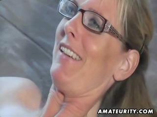 hot fresh lady sucks and fucks with cumshot on
