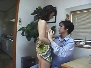 japanese milf gives in