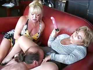 two matures vibrator and dominate boy
