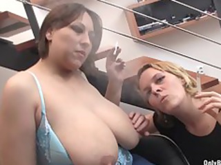 nadia and friend blow penis