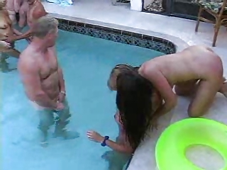 cougar swinger swimmingpool gathering