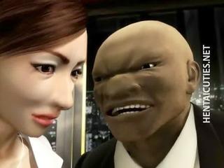 3d hentai mature babe gets big bossom tortured