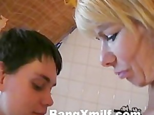 albino woman with fresh teenager