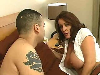 cougar bitch with large chest acquires a bedroom