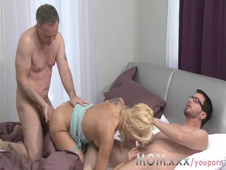 mom woman gets two huge penises