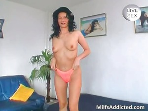 large glass vibrator for horny naked lady part4