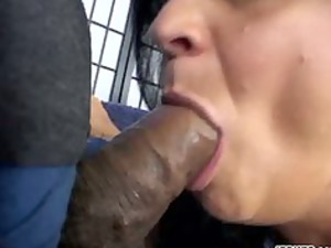 brunette mom takes rammed