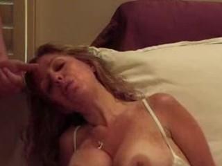 cougar pushing dildo and fellatio
