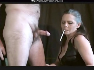 sexy old mature smoking fellatio older mature
