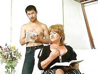 fat grownup pierced by asian guy
