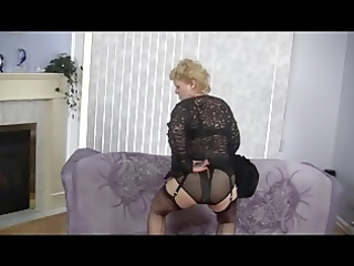old goes naked and dances inside pantyhose