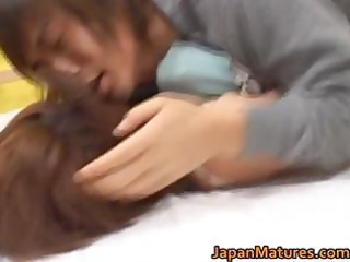 kaori nanba japanese older  chick takes part2