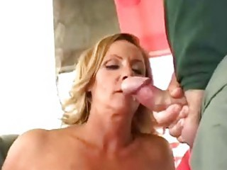 busty cougar wife obtain double facial