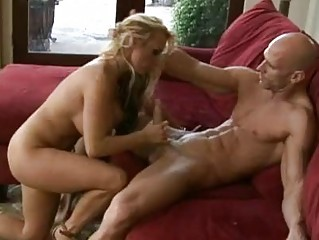 slutty blond lady inside high shoes drives on