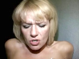 german pale woman dquirting orgasm