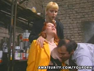 redhead fresh woman sucks and fucks with facial