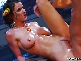 thin ebony haired woman adult movie star with