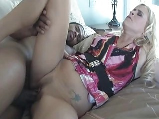 mommy opens her foot bulky and takes slammed