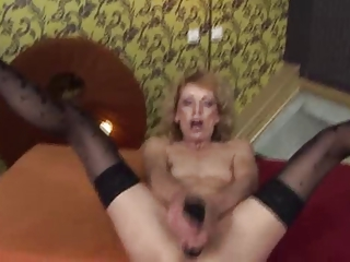 super elderly fisted by young