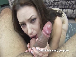 mature babe sarah shevon slobbers on penis and