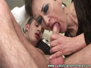mature granny licks cock later drilled and cant