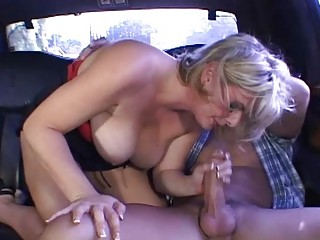lady takes dirty inside the car