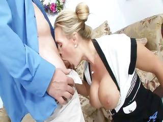 busty giant tit milf in panties