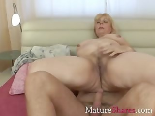 plump blond mature