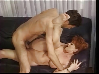 ginger german grownup kira drilled by giant libido