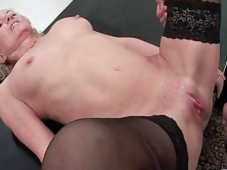 lovely horny 50yo old in massive cum cocktail