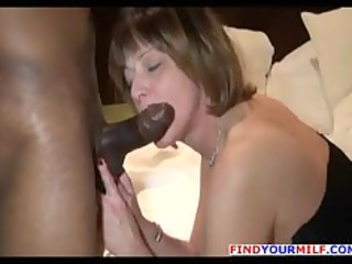 horny mature babe butt rimming with large dark man