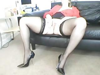 naughty albino milf lady masturbates in sweet