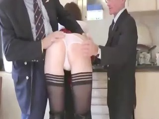 older wearing shoes gives a fellatio