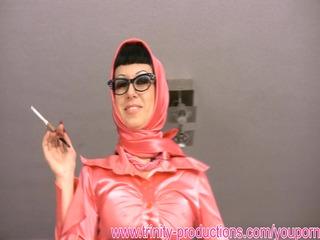 dirty talking horny woman smoking femdom