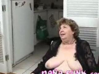 naughty grandma licking strong colorless penis