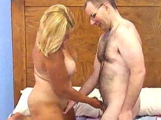 chesty older  heavy albino obtains boned doggy