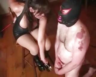 extreme lady rooty balls bondage