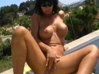 nadja summer finhering pushing dildo german lady