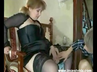 european woman obtaining her timid sons cock