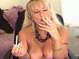 smoking like woman bleached
