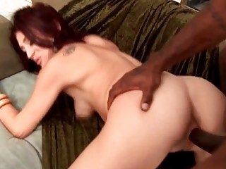 blonde rufous woman whore bangs outside with