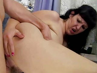 desperate fat grandma drilling with amateur