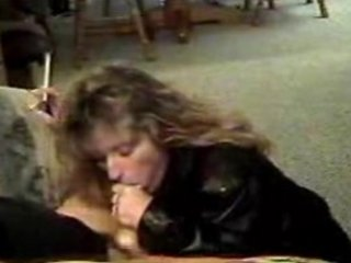 beautiful cougar inside leather smoking dick
