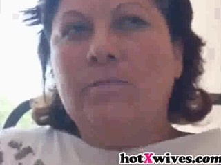 fat housewife gives fellatio and acquires