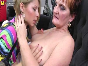 grandma teaching youthful prettiness a lesbo